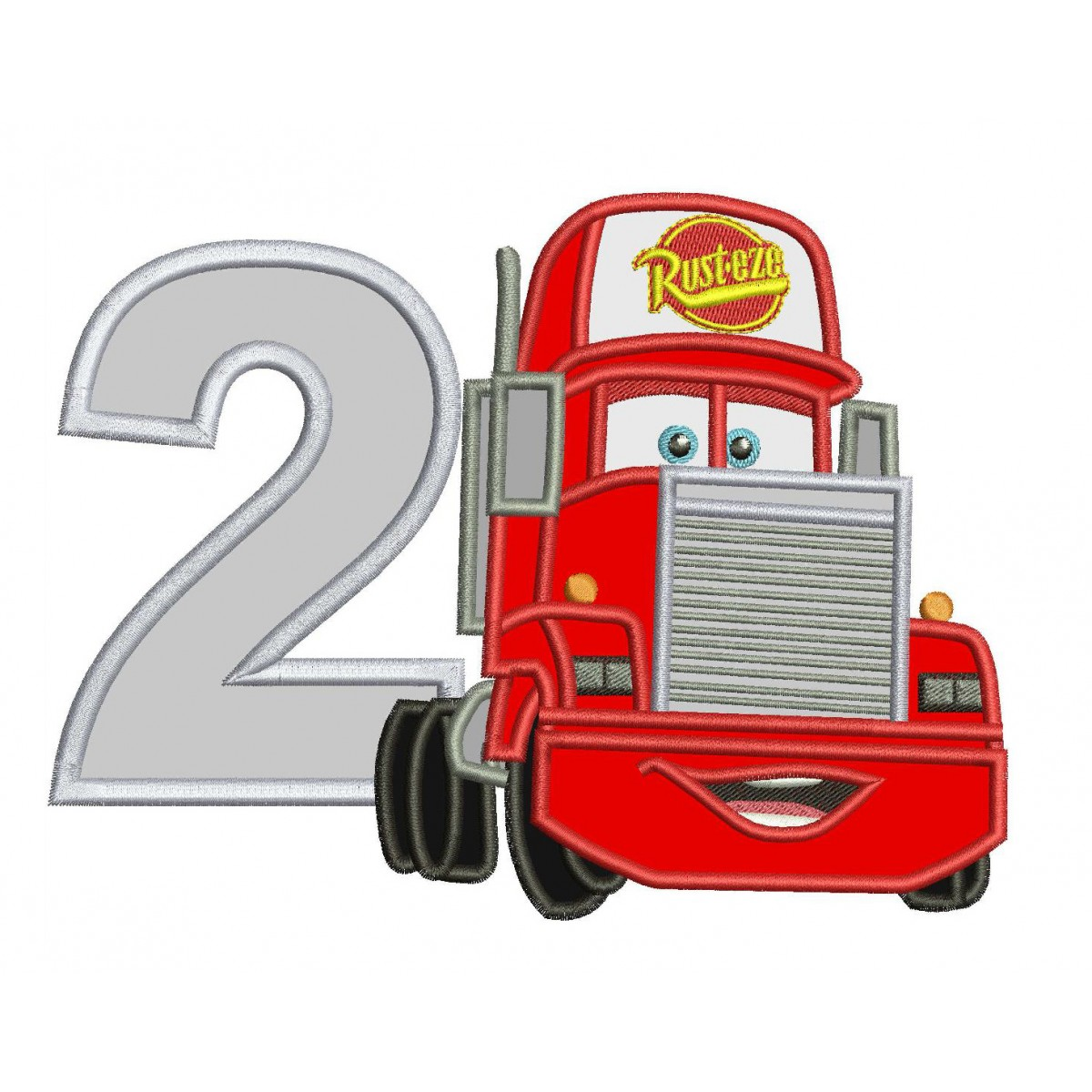 2nd Birthday Mack Truck Disney Cars Applique Design