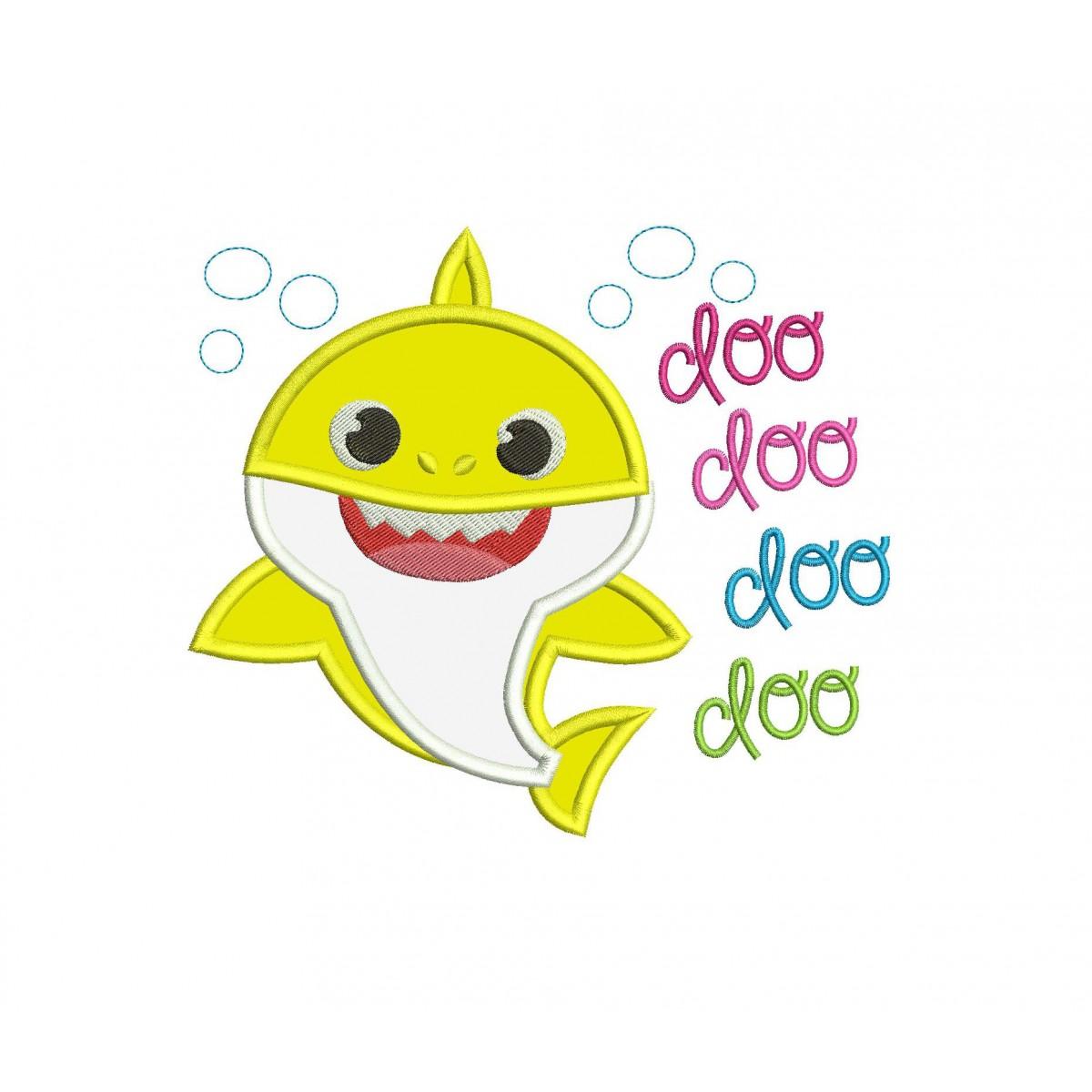 Baby Shark Doo Doo Doo Applique Design