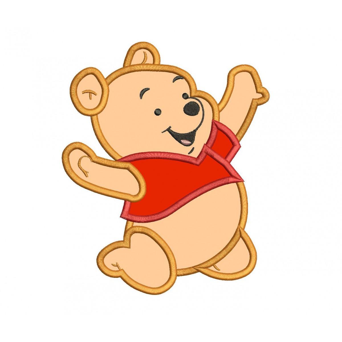 baby winnie the pooh applique design winnie the pooh applique