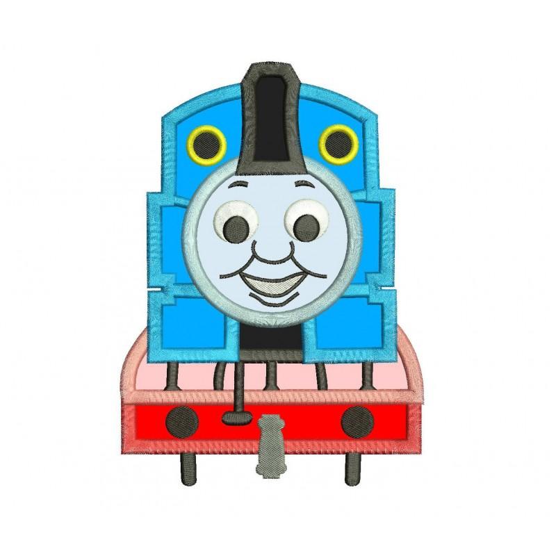 Blue Train Applique Design