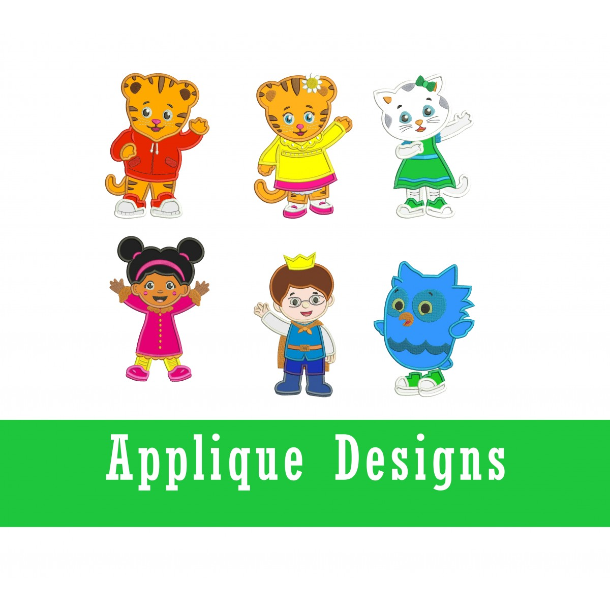 Fifth birthday Embroidery Designs Birthday design applique Daniel Tiger birthday design Daniel Tiger Five Applique Embroidery Designs