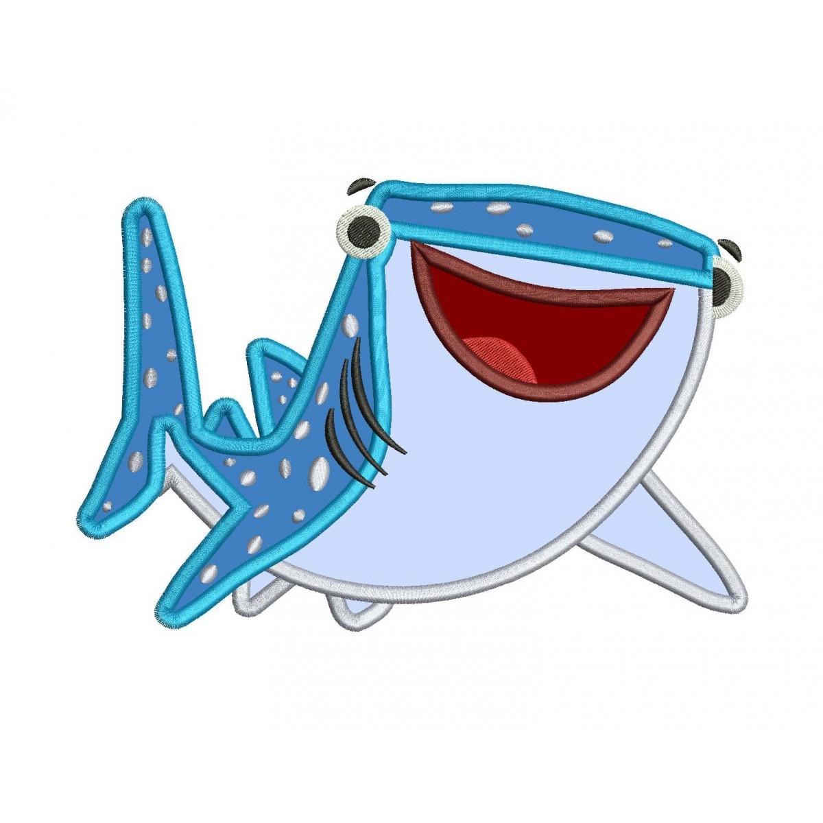 2d313aebb0b Destiny shark finding dory embroidery applique design jpg 1200x1200 Whale  shark finding dory