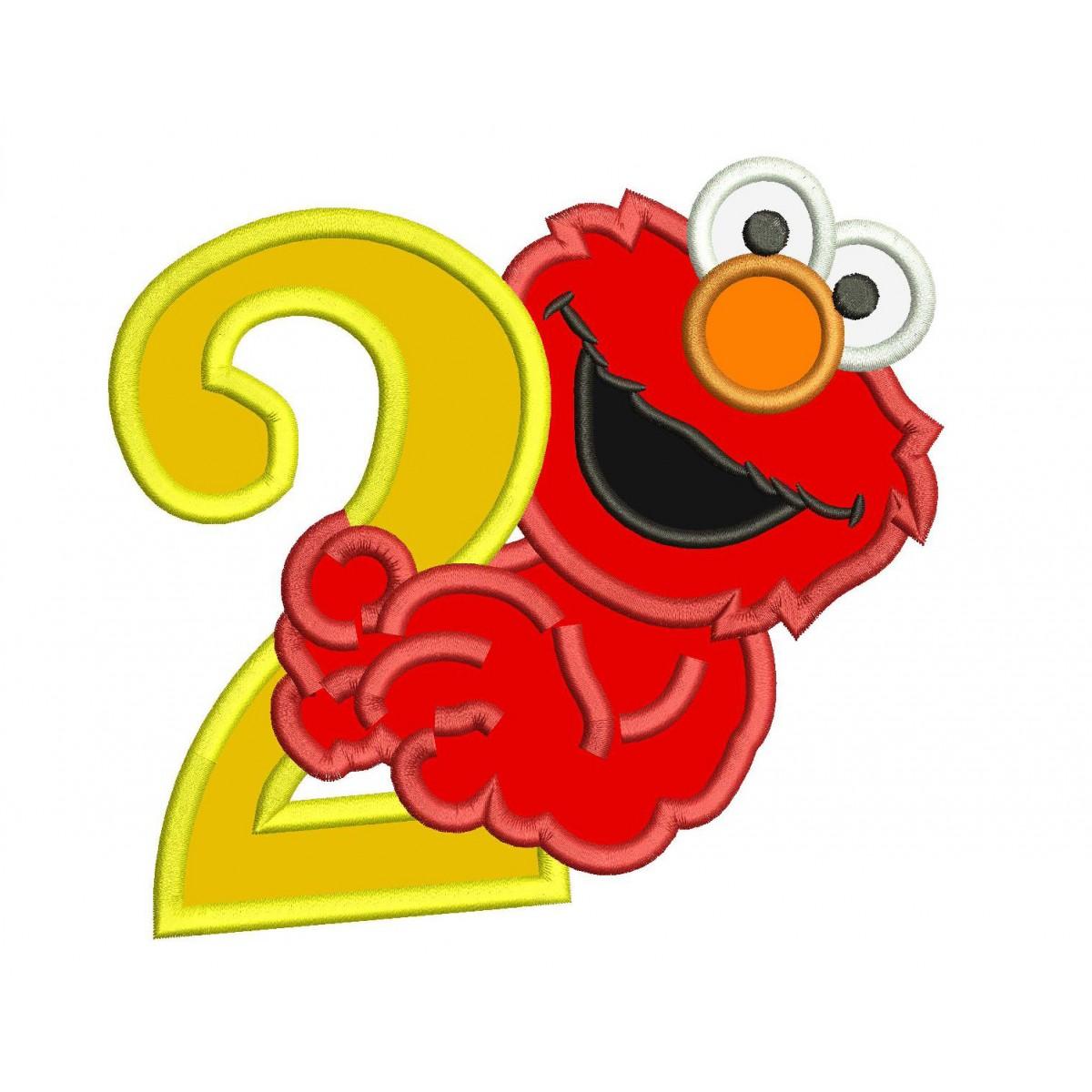 Elmo 2nd Birthday Applique Design