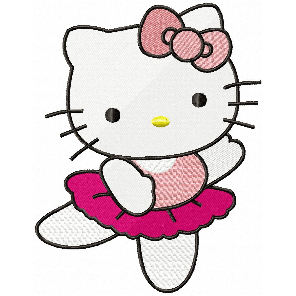 Hello Kitty Dance Embroidery Design