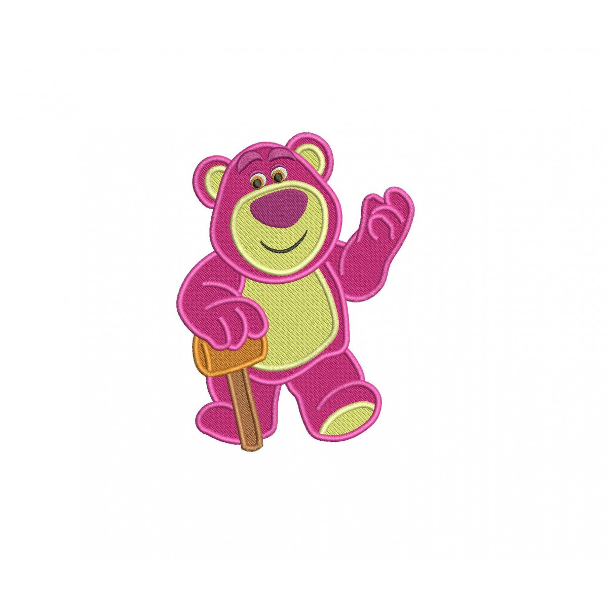 Lotso Toy Story Filled Embroidery Design