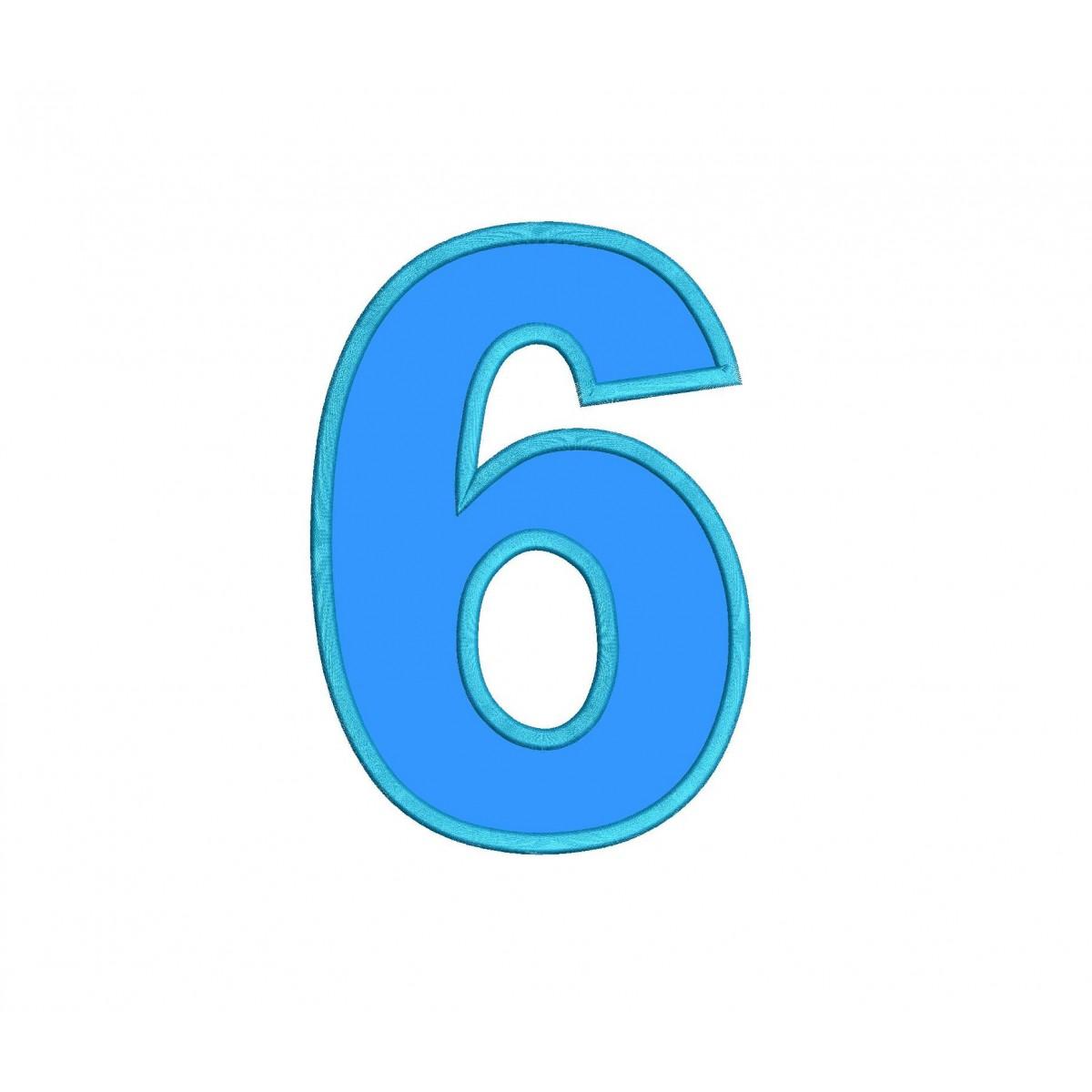 Number 6 Applique Design