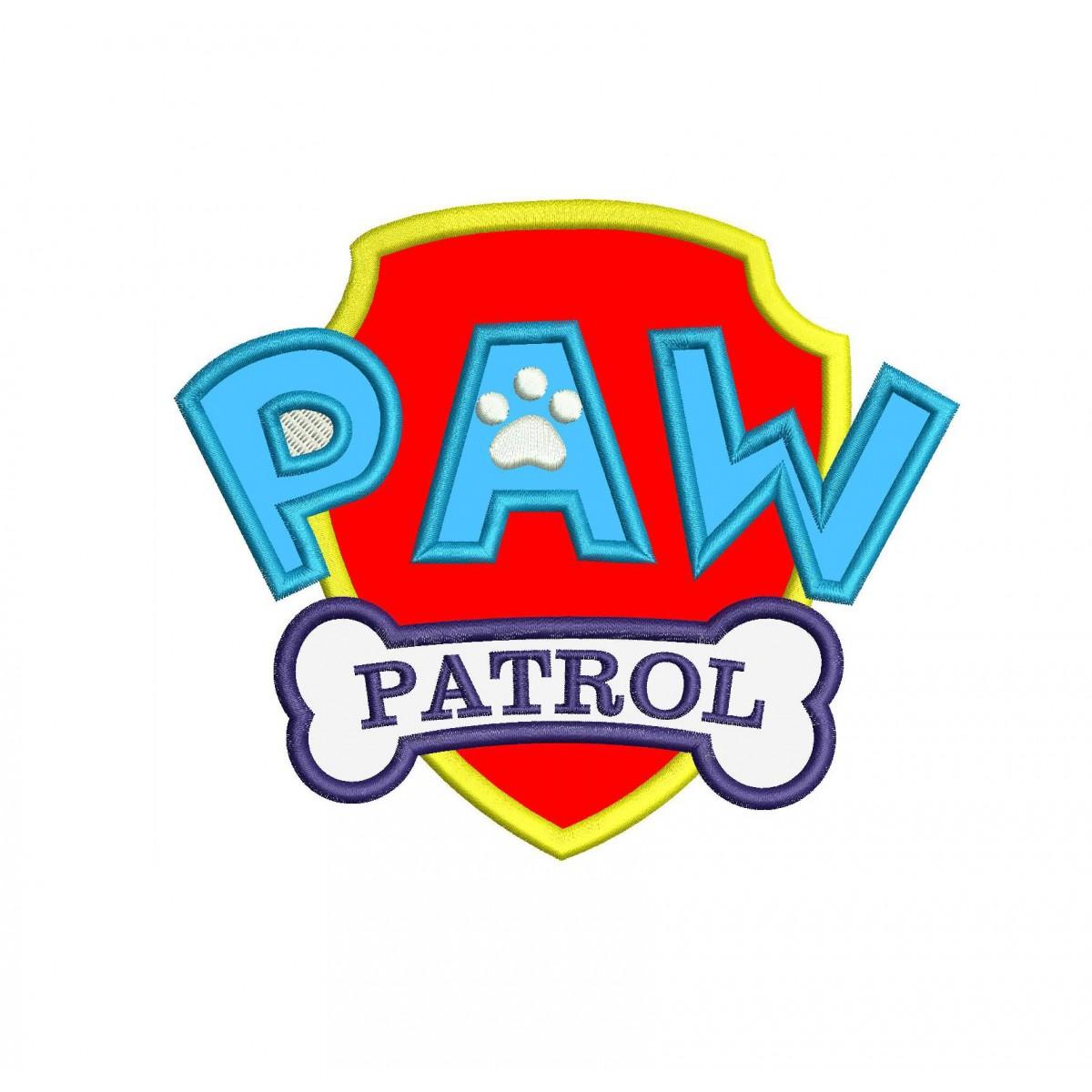 paw patrol logo applique design
