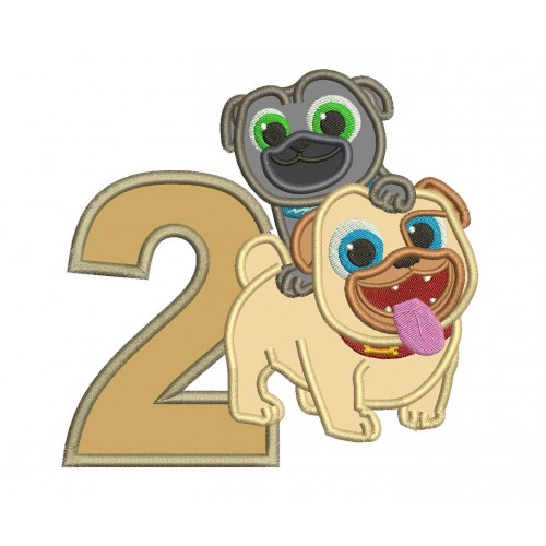 Rolly Face Puppy Dog Pals Applique Design