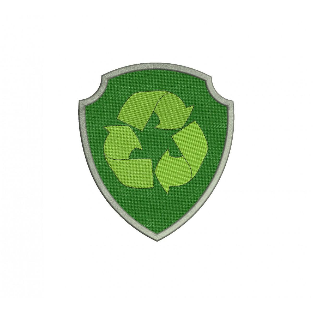 rocky badge logo paw patrol full embroidery design