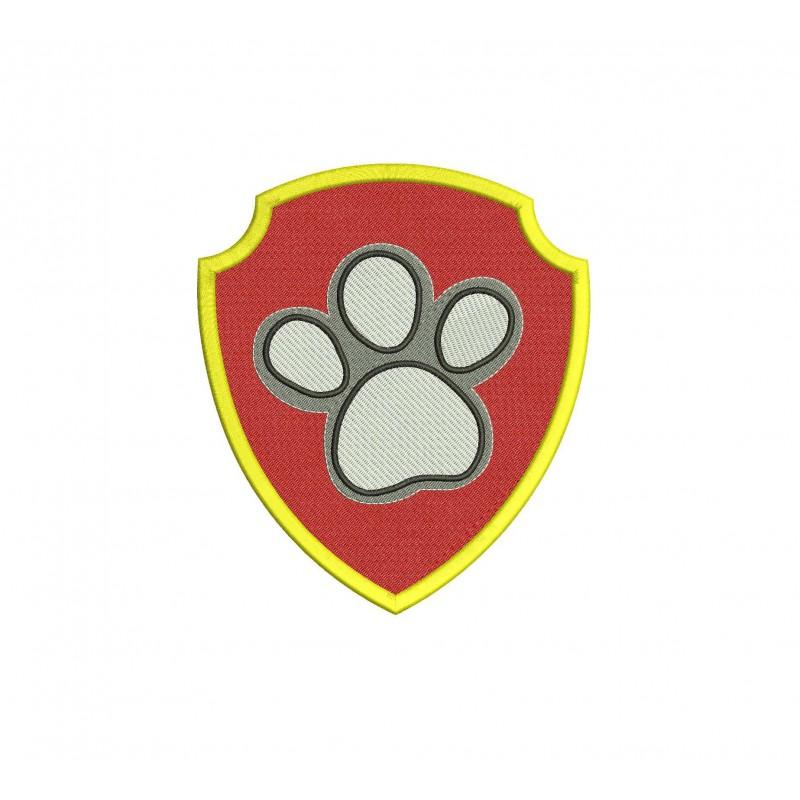ryder logo paw patrol full embroidery design