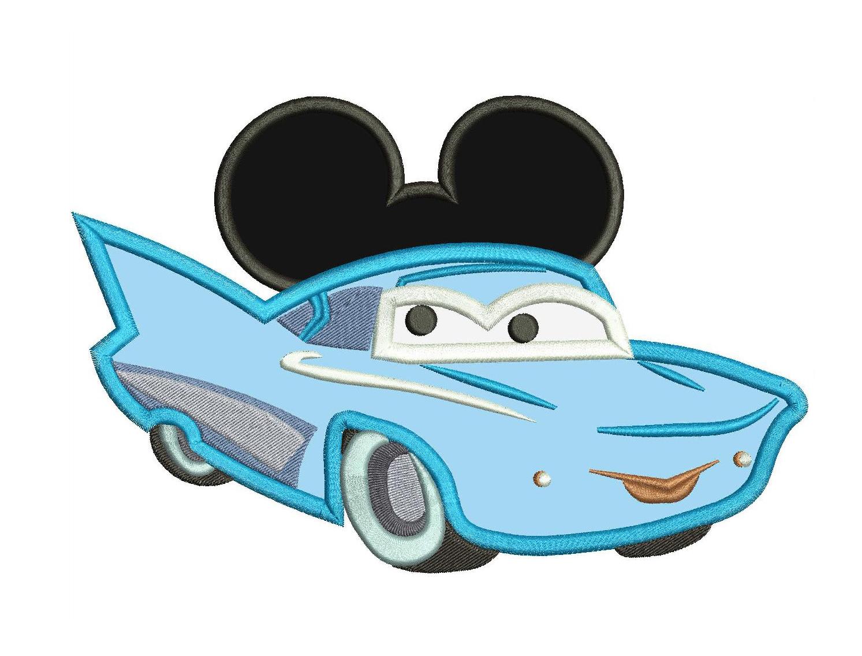 Flo disney cars mickey ears applique design - Appliques flos ...