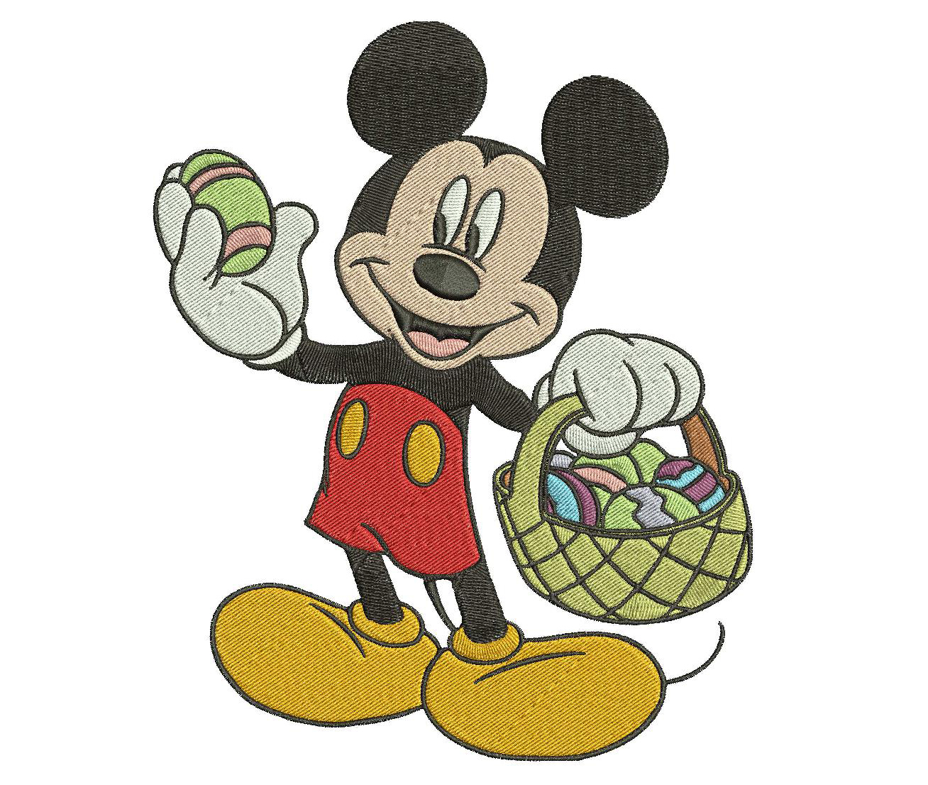 Mickey easter embroidery design