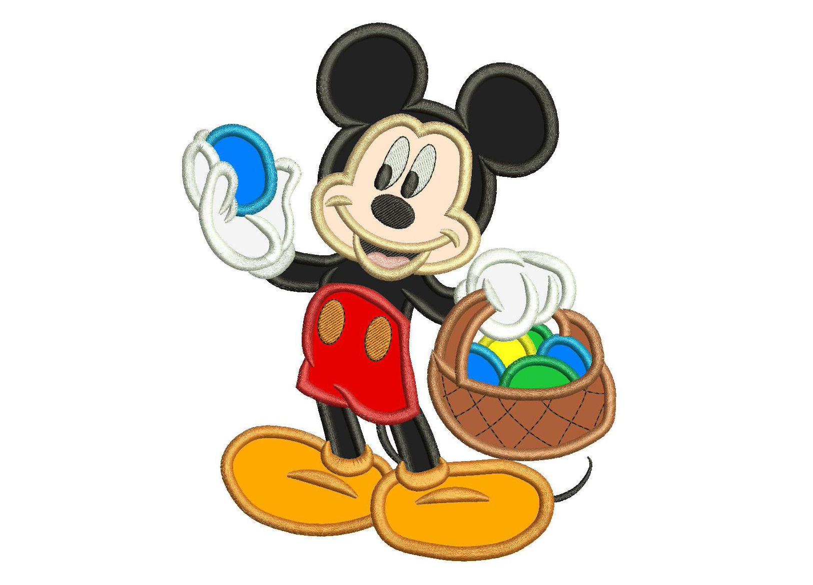Mickey Mouse Embroidery Designs Applique